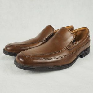 Clarks Men's Dress Shoes Tilden Free Dark Tan 8.5